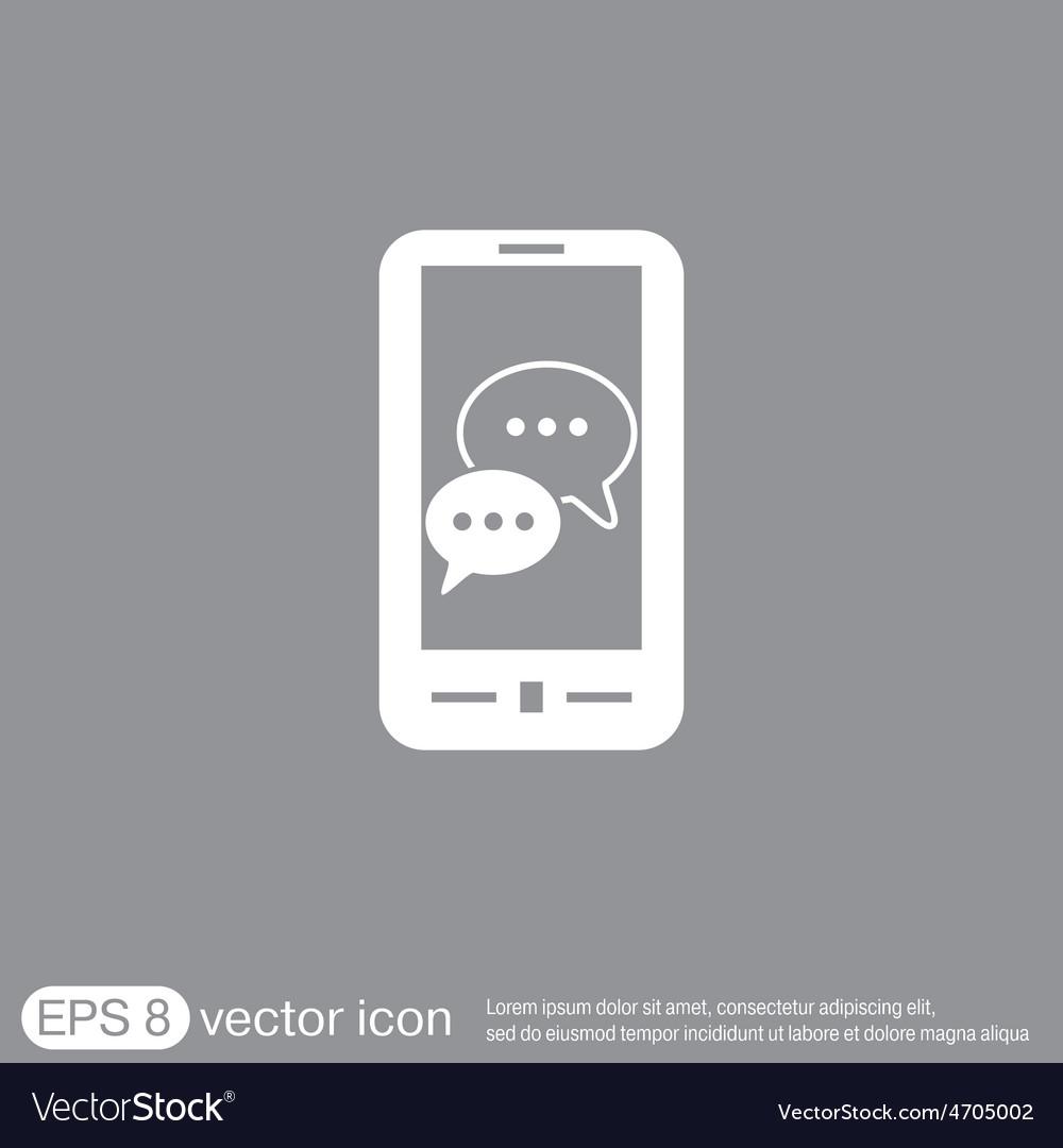 Smartphon cloud of speaking dialogue vector   Price: 1 Credit (USD $1)