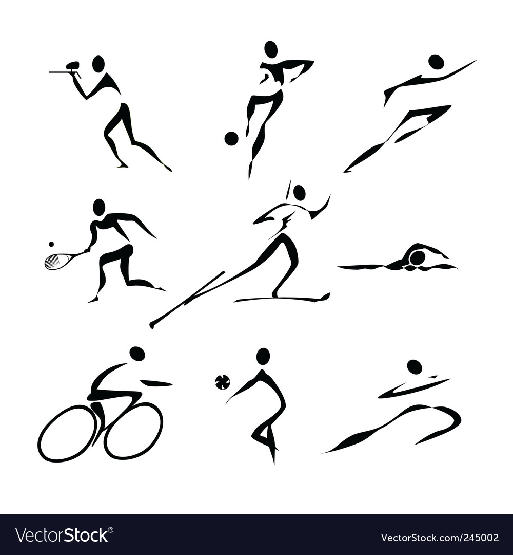 Sports icons collection vector | Price: 1 Credit (USD $1)