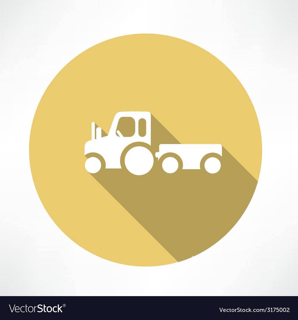 Tractor with trailer icon vector | Price: 1 Credit (USD $1)