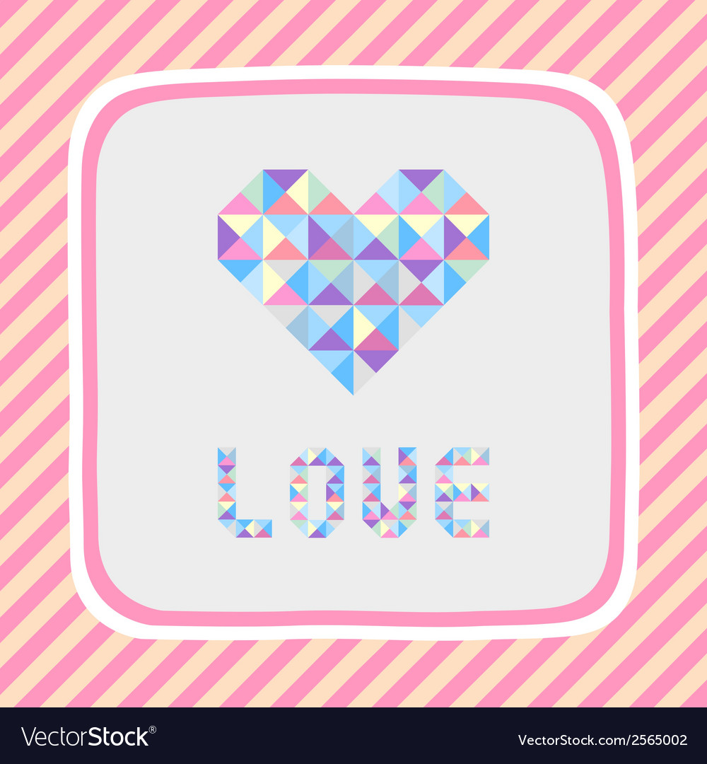 Triangle pattern love card1 vector | Price: 1 Credit (USD $1)