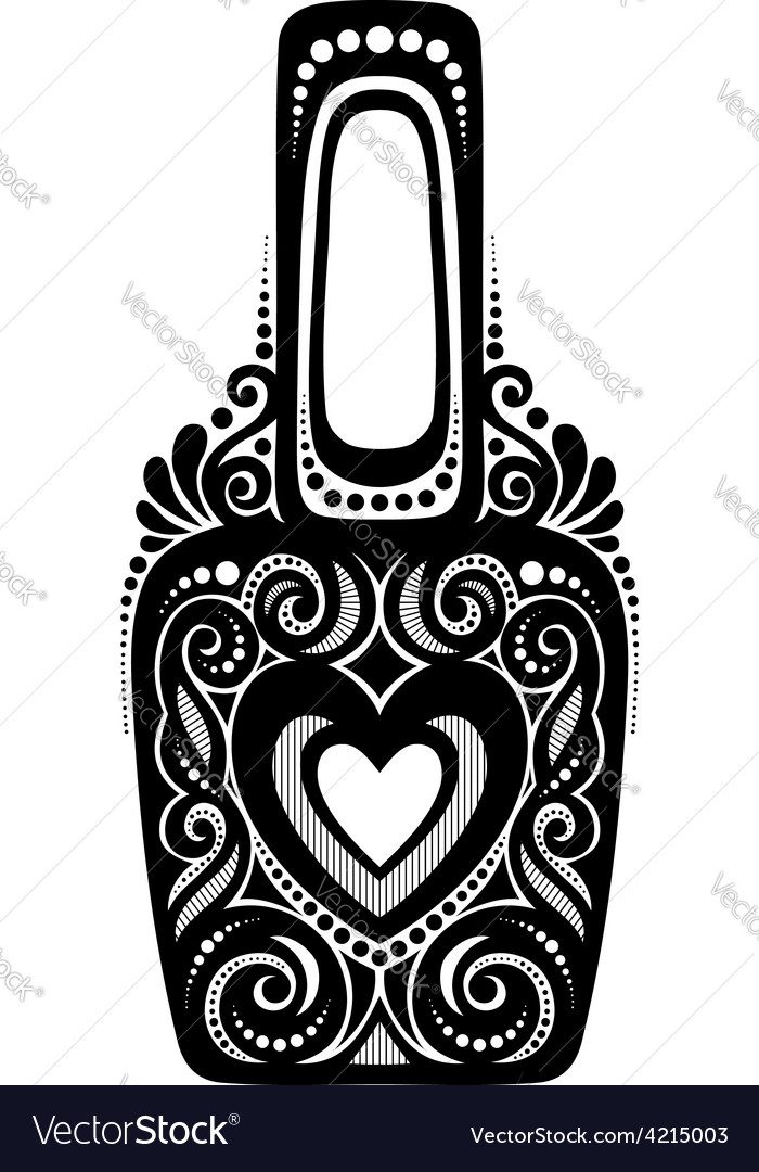 Abstract cosmetic bottle vector | Price: 1 Credit (USD $1)