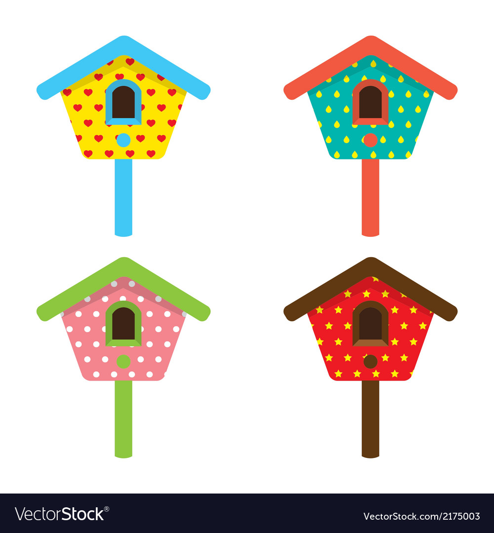 Bird house home birdhouse nest isolat vector | Price: 1 Credit (USD $1)