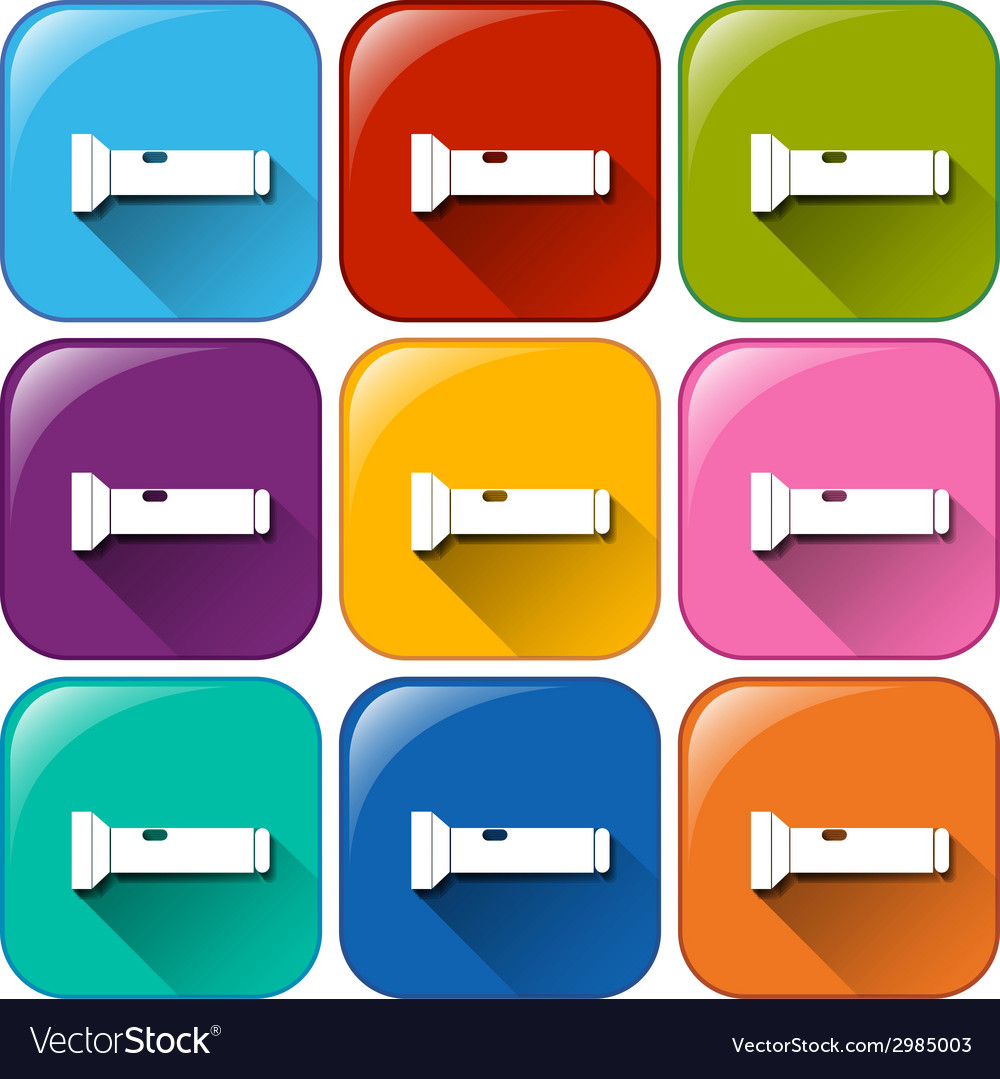 Buttons with flashlights vector | Price: 1 Credit (USD $1)