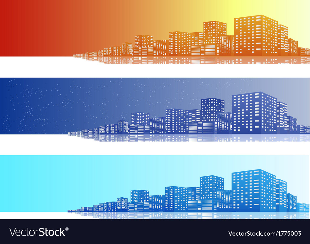 Cityscapes banner vector | Price: 1 Credit (USD $1)