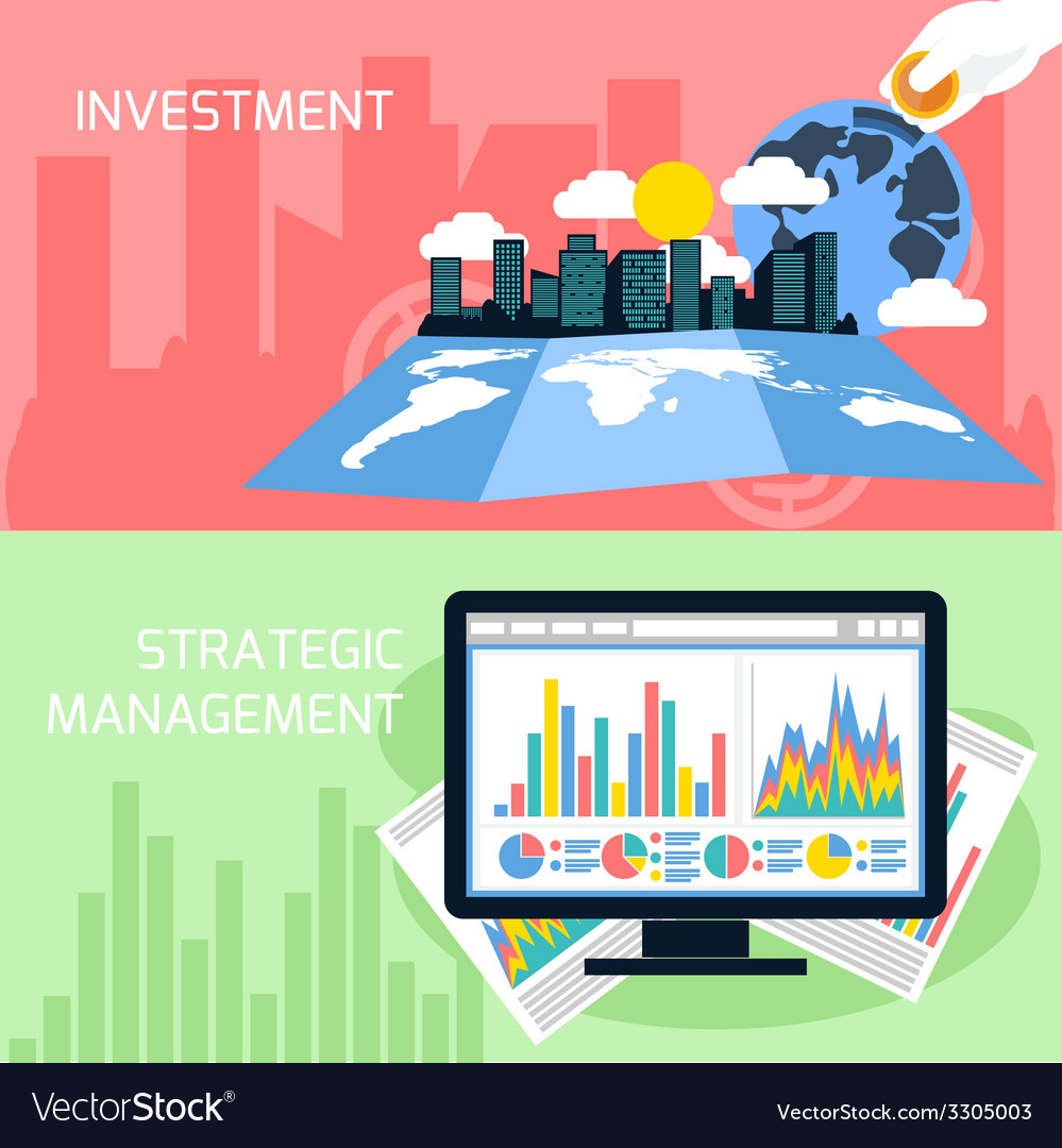 Concept of strategic management and investment vector | Price: 1 Credit (USD $1)
