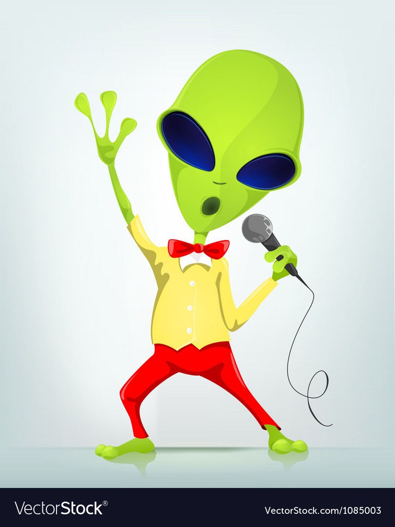Funny alien vector | Price: 1 Credit (USD $1)