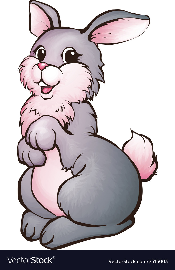 Hare in cartoon style vector | Price: 1 Credit (USD $1)