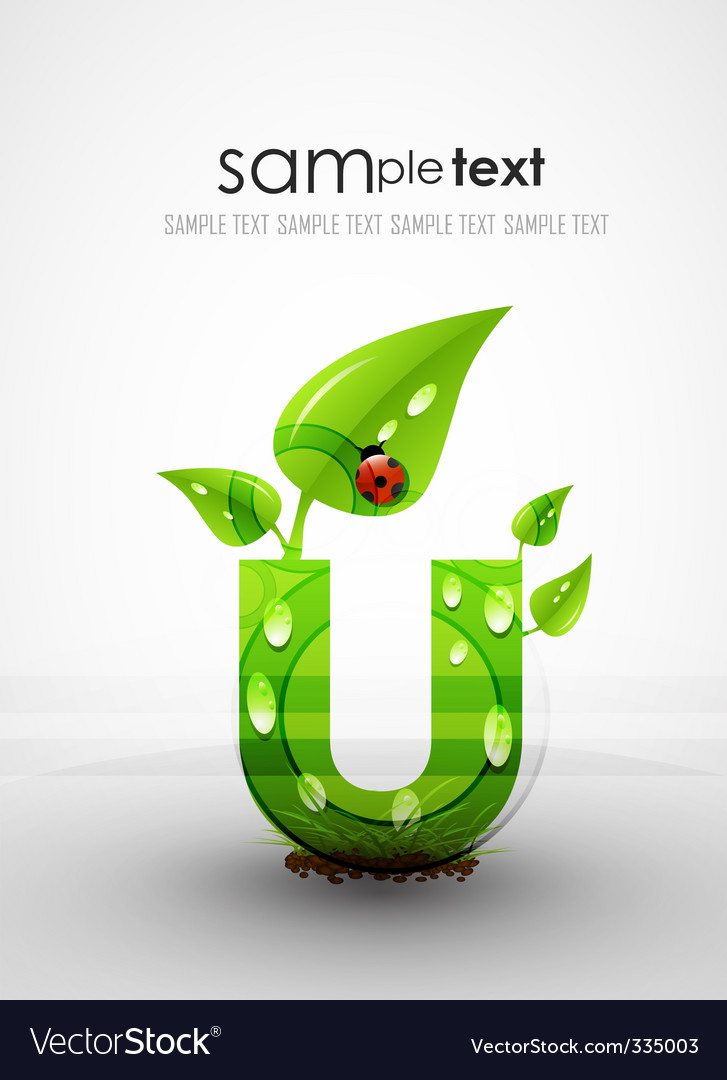 Natural themed typography vector | Price: 1 Credit (USD $1)