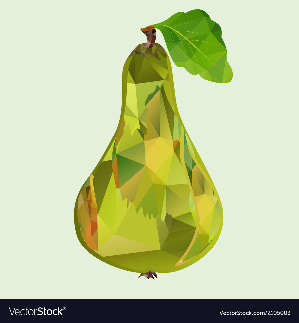 Pear green polygon vector | Price: 1 Credit (USD $1)