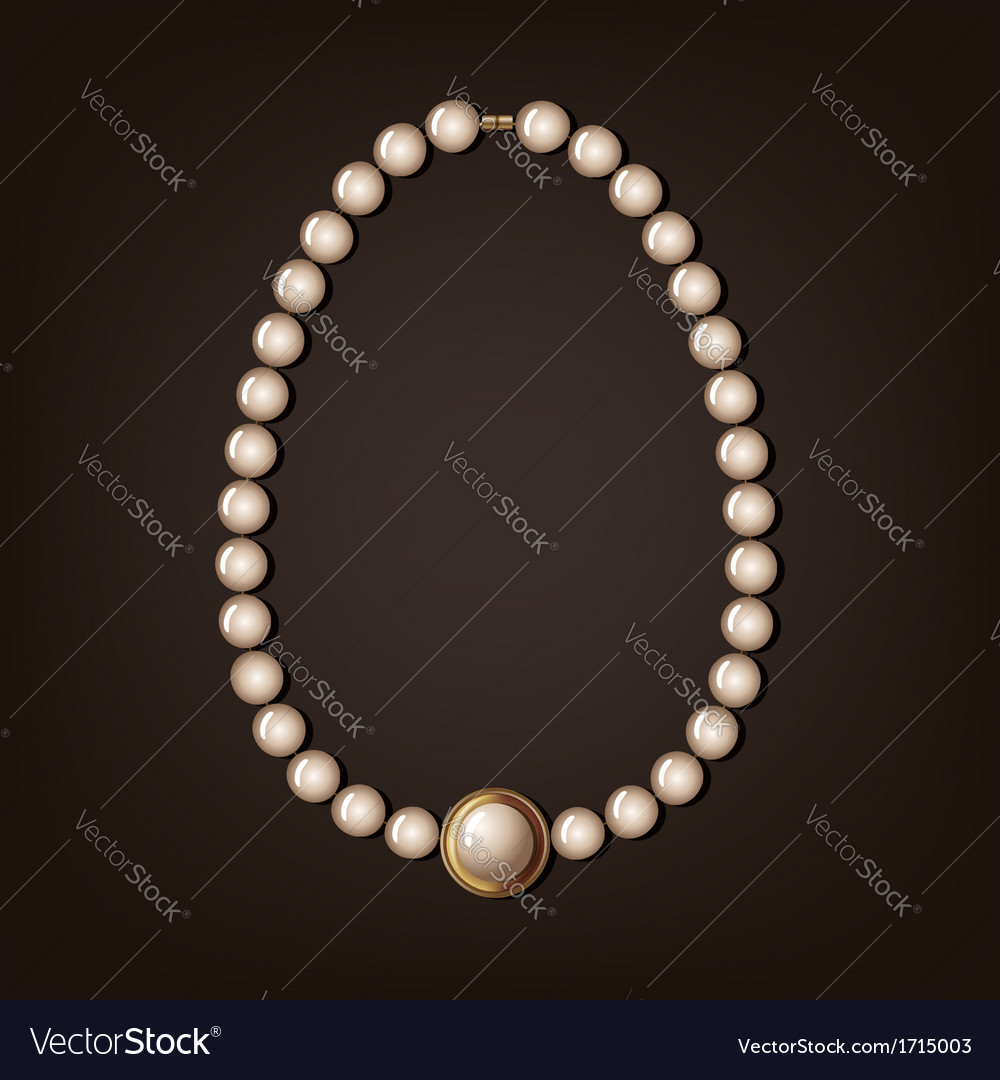 Pearl necklace - vector | Price: 1 Credit (USD $1)