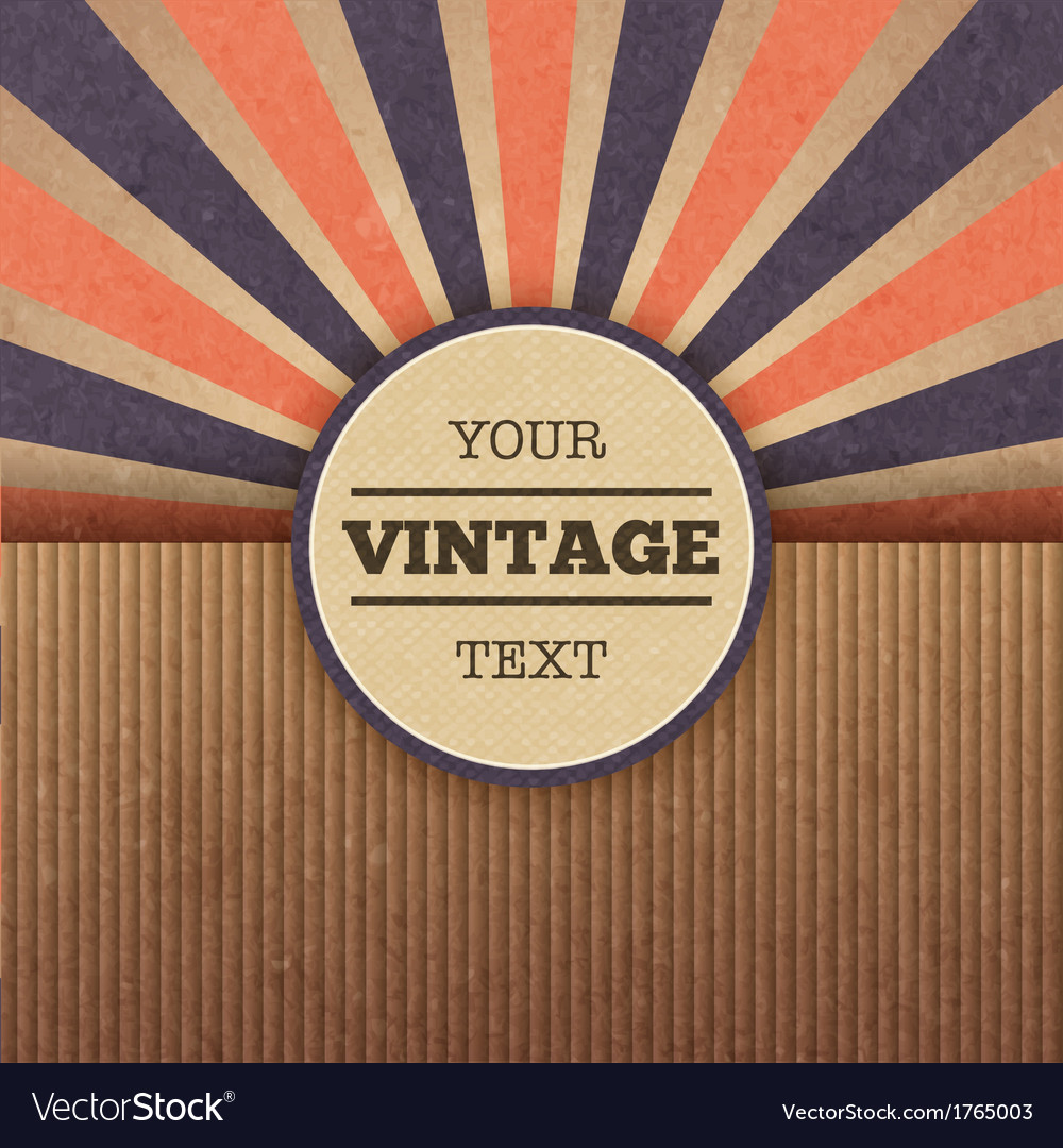 Retro sunburst cover layout vector | Price: 1 Credit (USD $1)