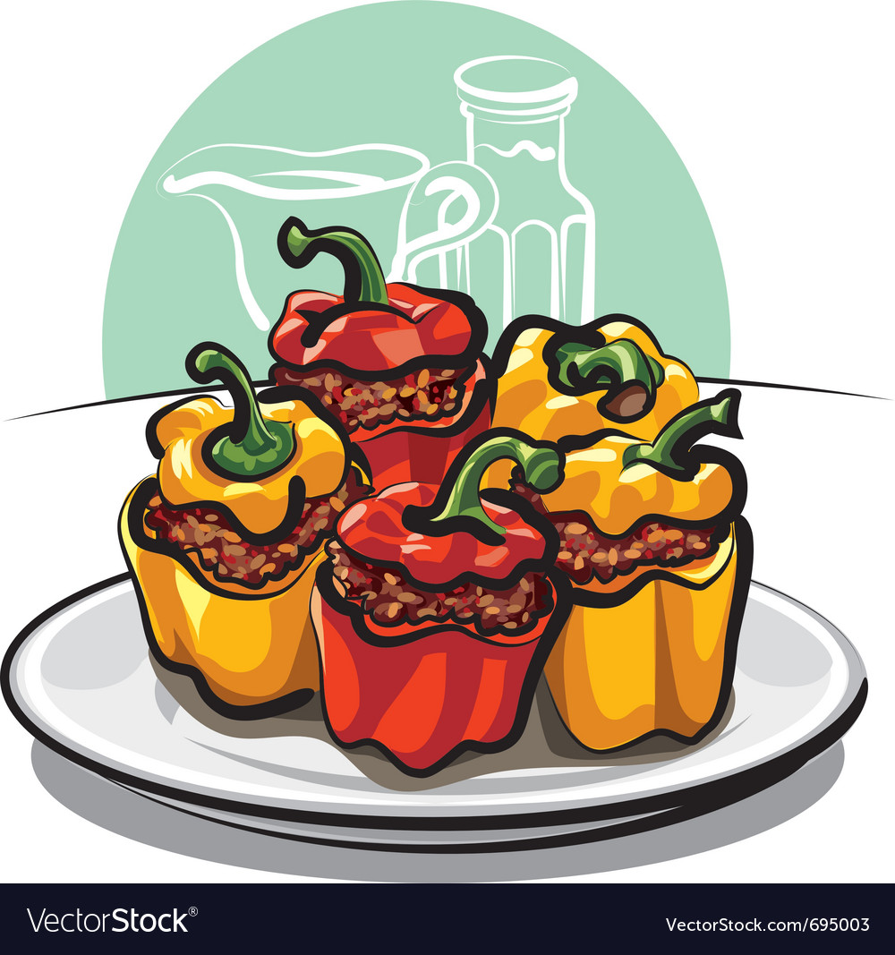Roasted peppers vector | Price: 3 Credit (USD $3)