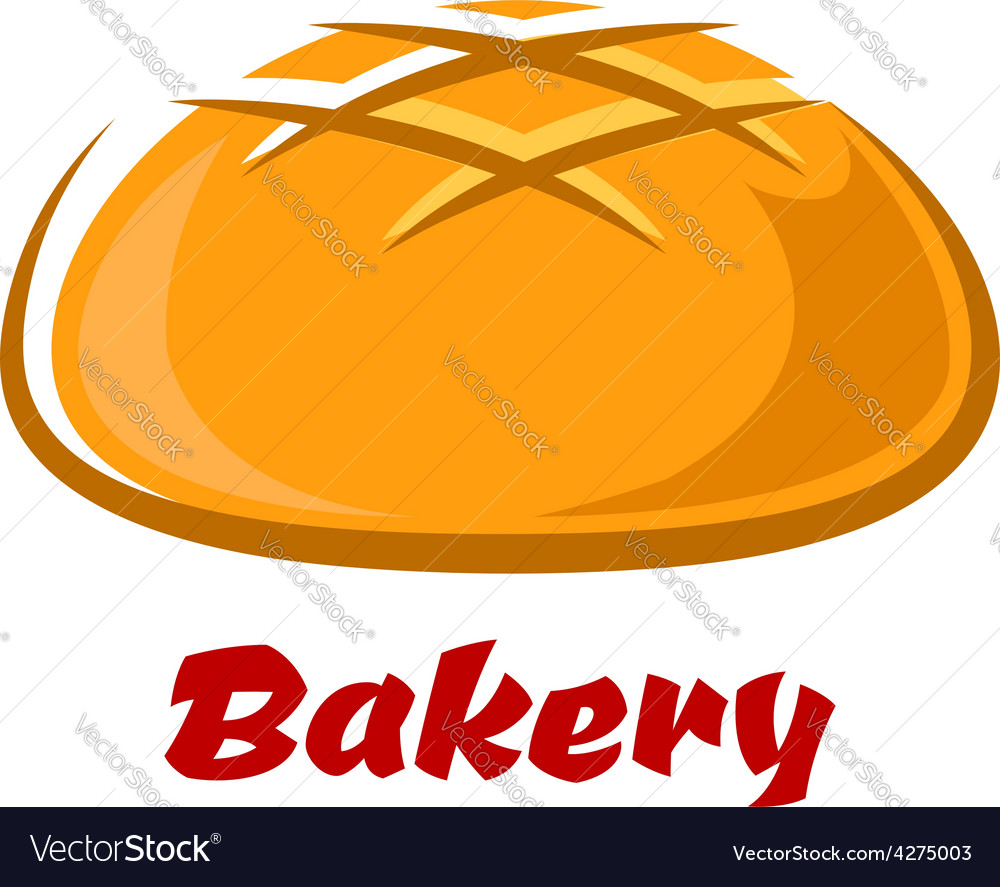 Round bread with baked crust vector | Price: 1 Credit (USD $1)