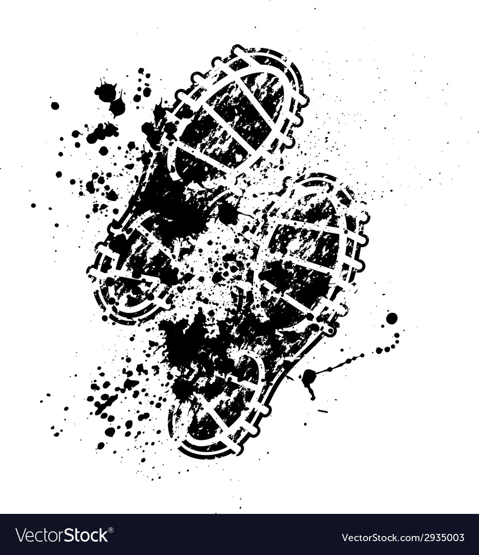 Shoes print ink blots vector | Price: 1 Credit (USD $1)