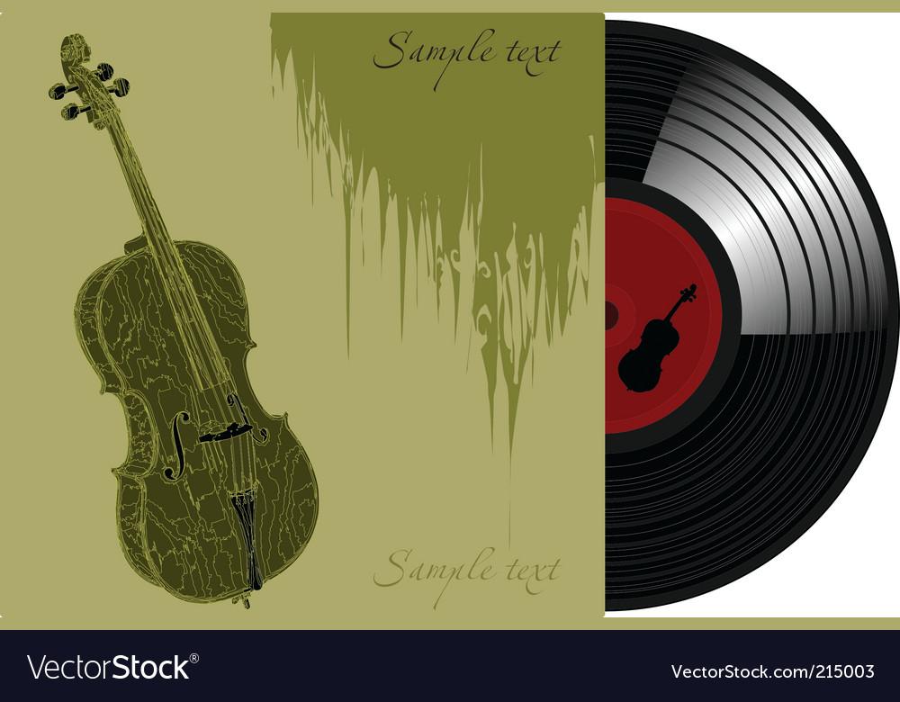 Vinyl violoncello vector | Price: 1 Credit (USD $1)