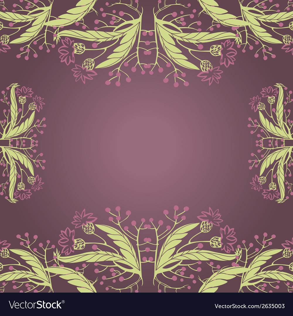 Wildflowers vector | Price: 1 Credit (USD $1)