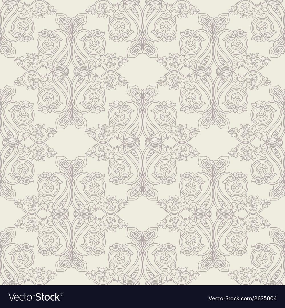 Beige baroque pattern vector | Price: 1 Credit (USD $1)