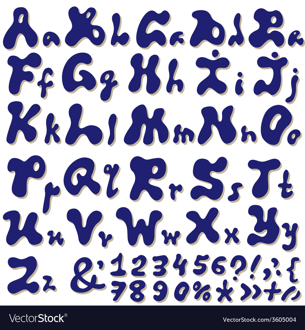 English alphabet vector | Price: 1 Credit (USD $1)
