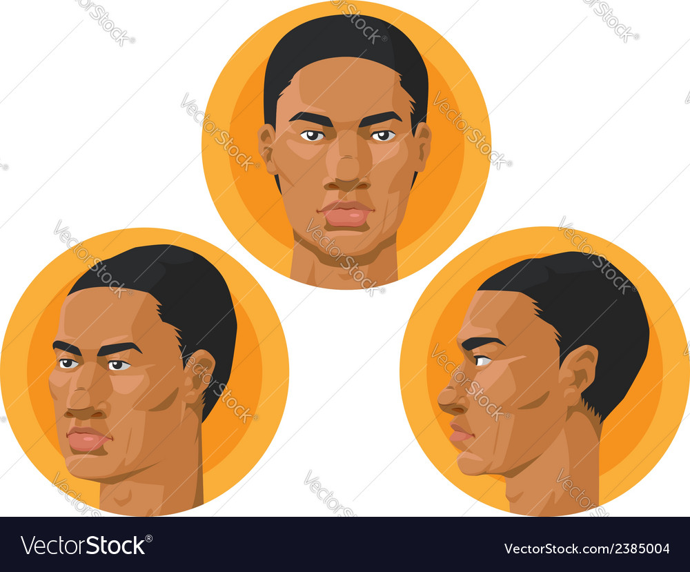 Head african american man vector | Price: 1 Credit (USD $1)