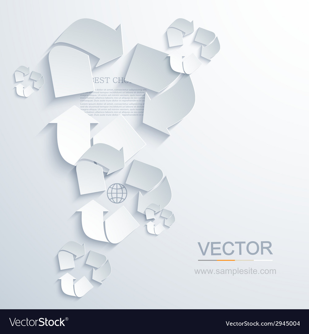 Modern recycle background vector | Price: 1 Credit (USD $1)