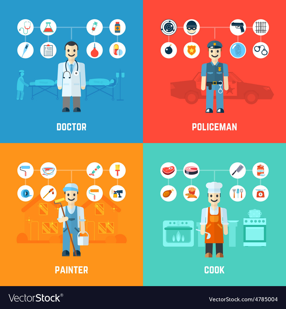 Profession design concept vector | Price: 3 Credit (USD $3)