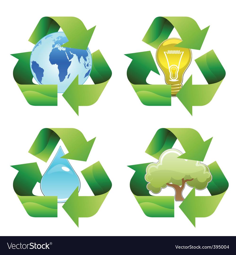 Recycle symbols vector | Price: 1 Credit (USD $1)