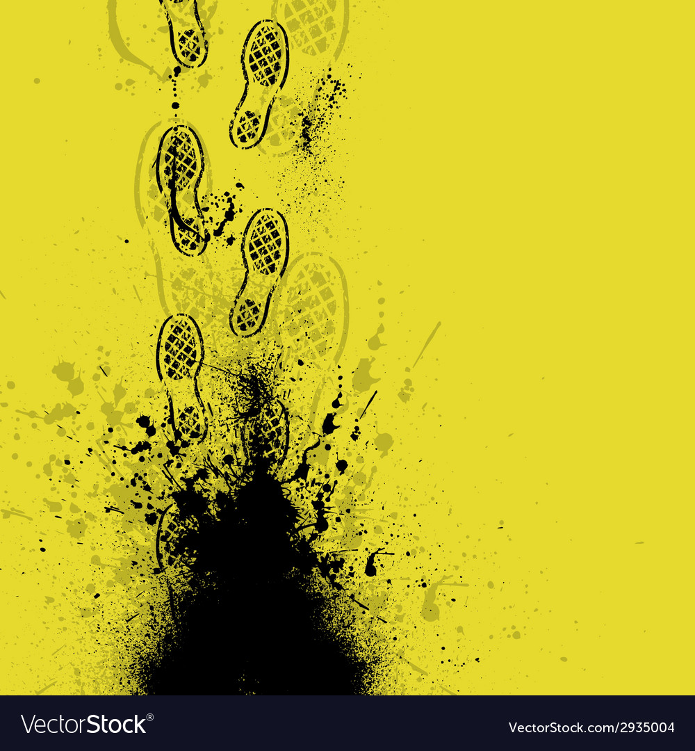 Shoes print yellow vector | Price: 1 Credit (USD $1)