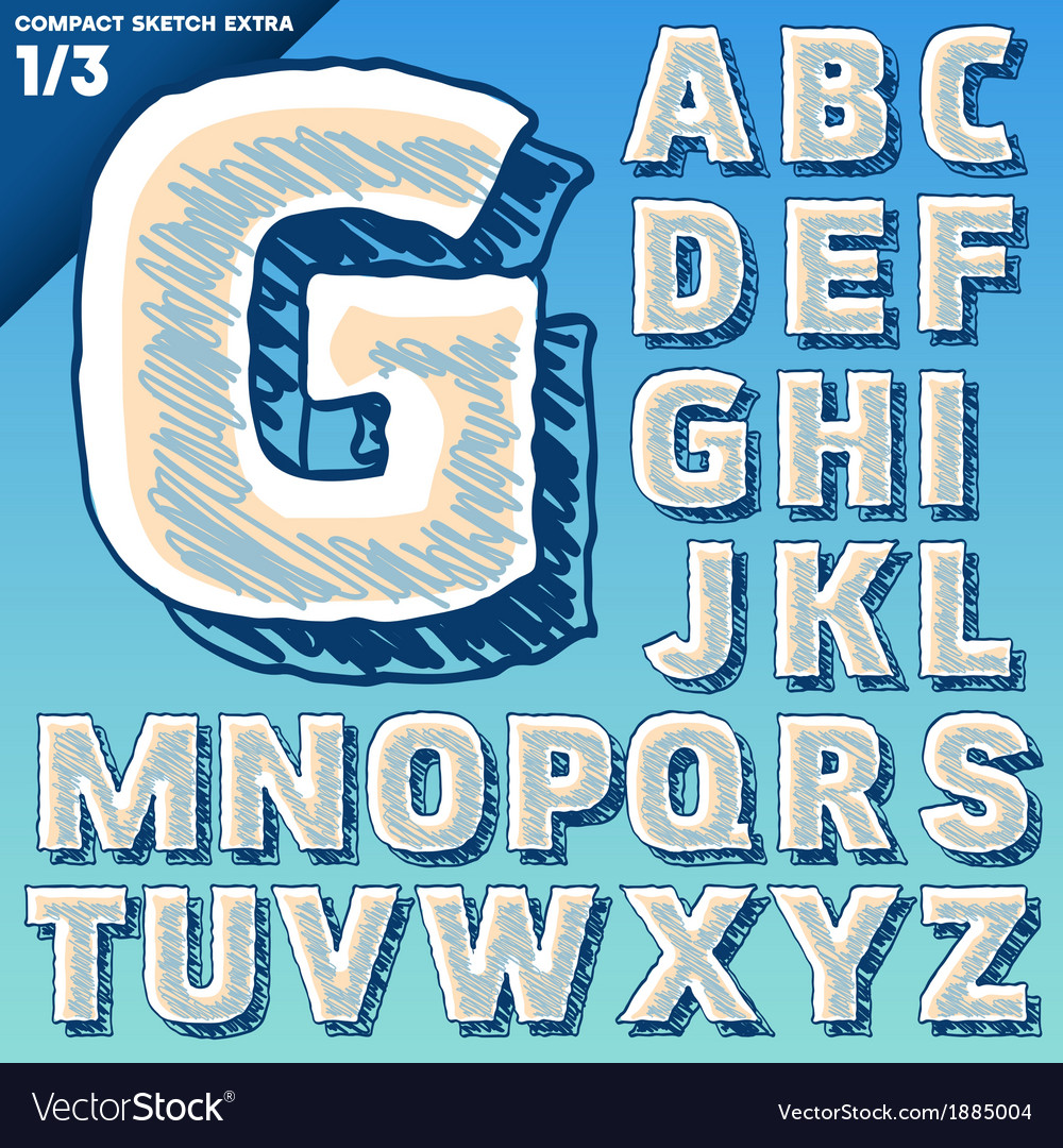 Sketch alphabet vector | Price: 1 Credit (USD $1)
