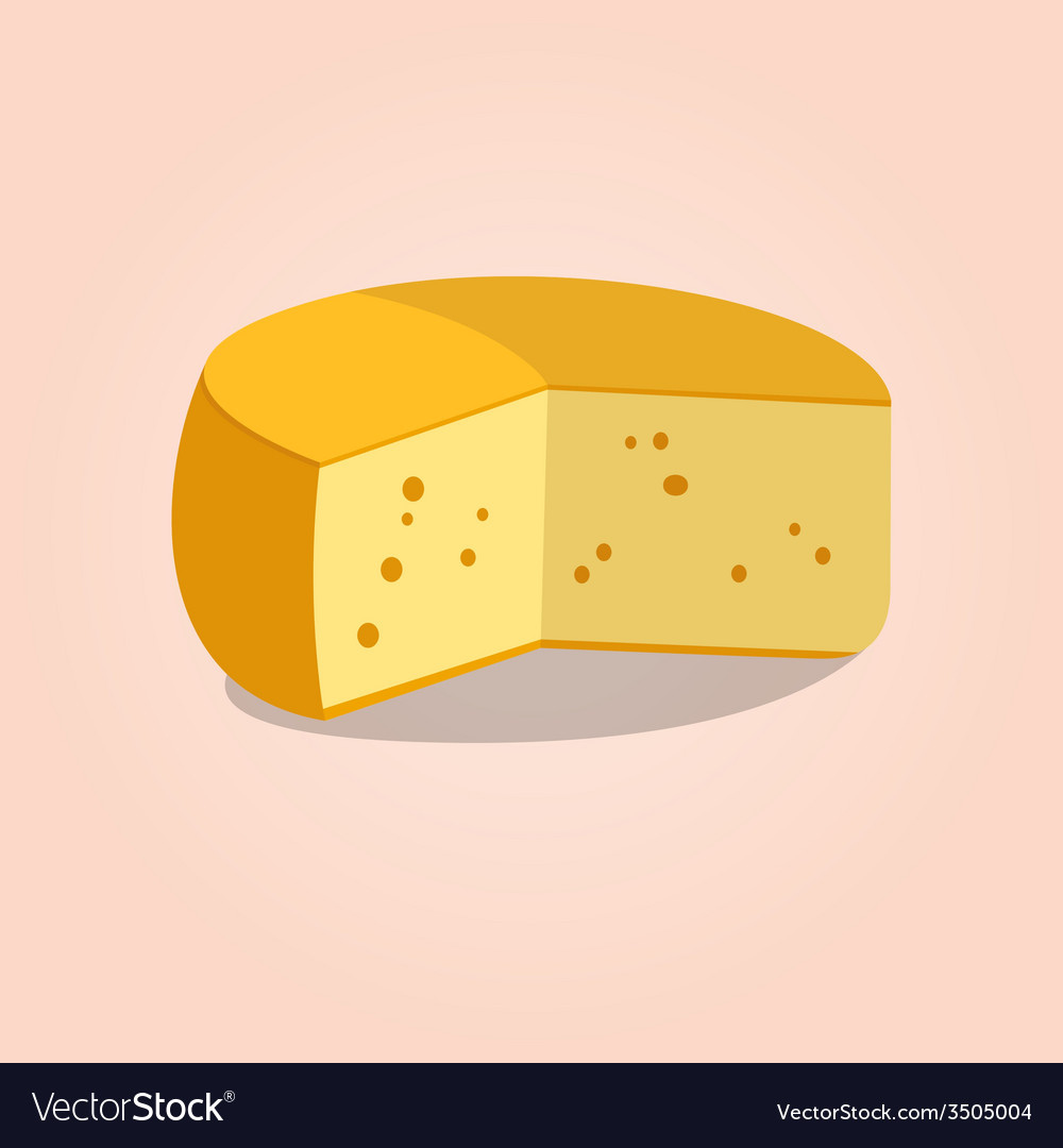 Wheel of cheese vector | Price: 1 Credit (USD $1)