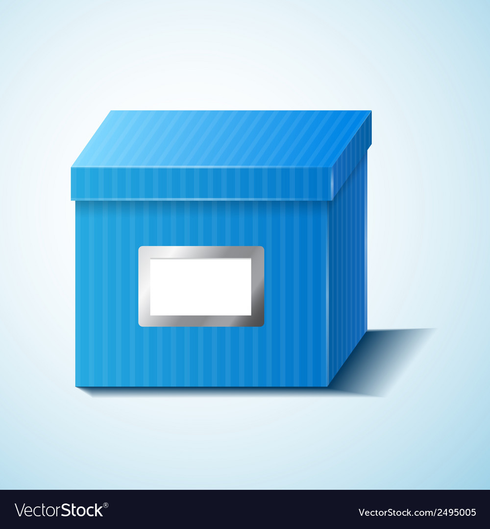 Blue box isolated vector | Price: 1 Credit (USD $1)