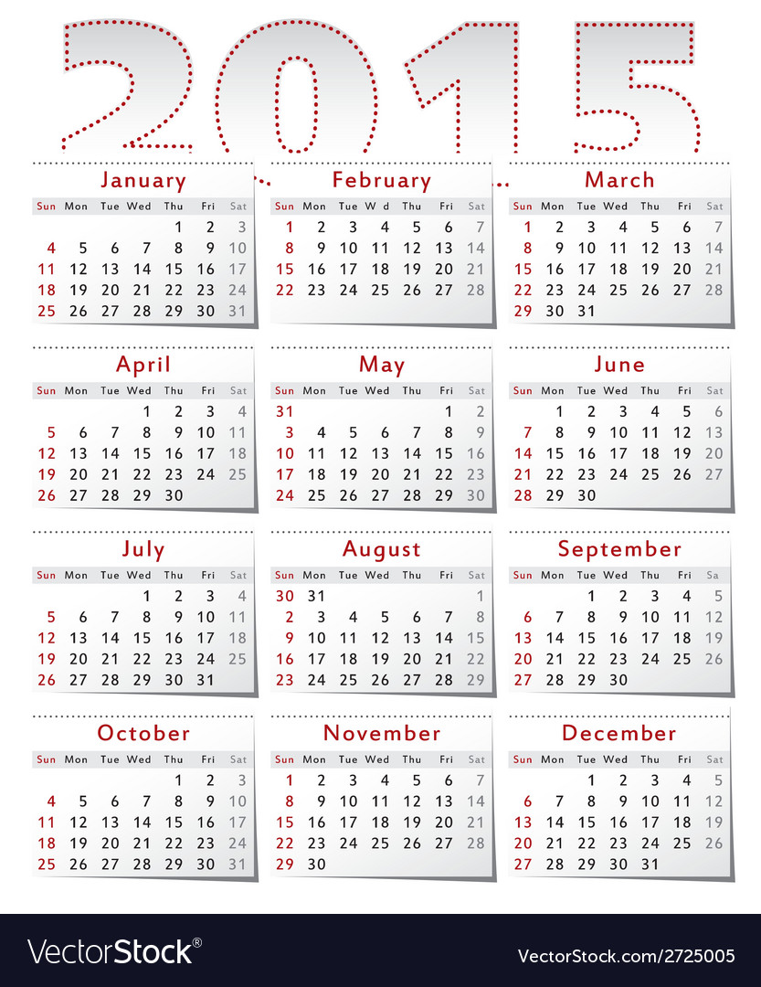 Calendar-2015 vector   Price: 1 Credit (USD $1)