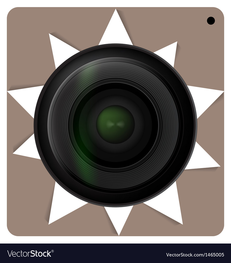 Camera lens shutter icon vector | Price: 1 Credit (USD $1)