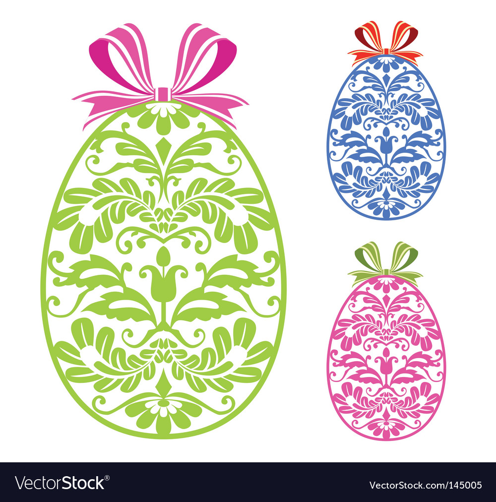 Easter ornaments eggs vector | Price: 1 Credit (USD $1)