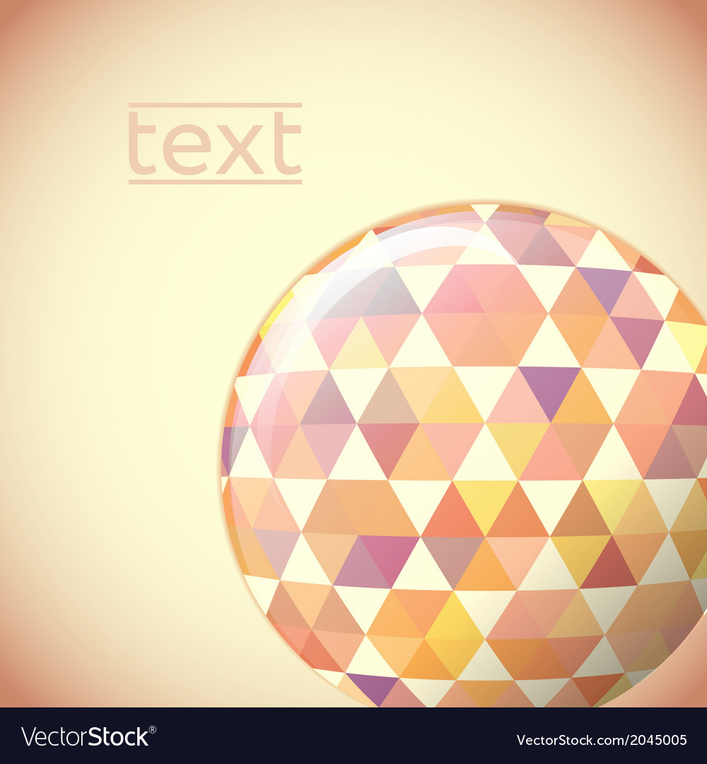 Globe with hexagon signs vector | Price: 1 Credit (USD $1)