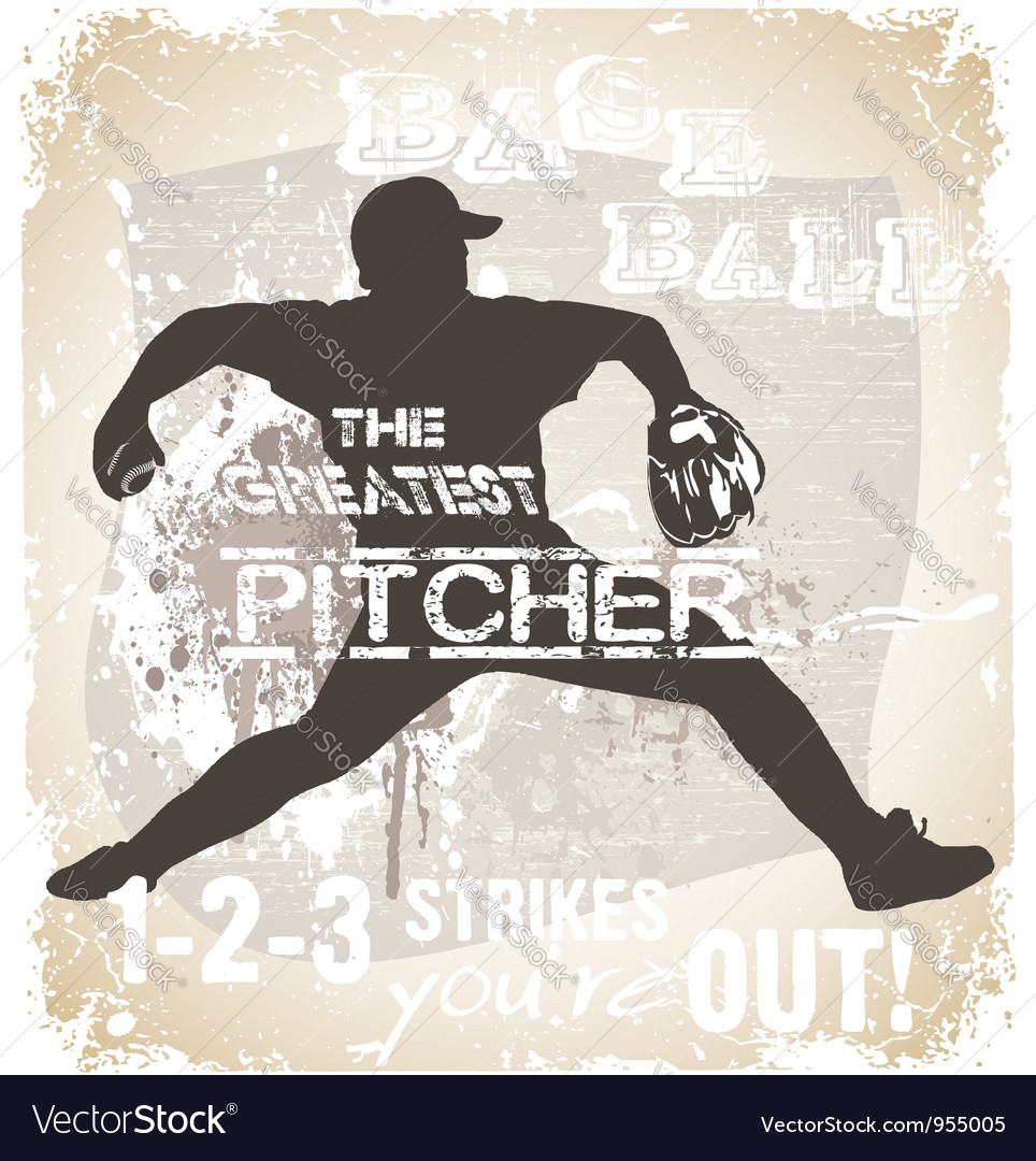 Great pitcher vector | Price: 1 Credit (USD $1)
