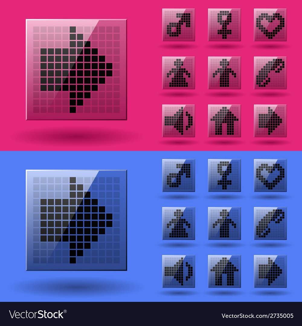 Lcd display pixel symbols vector | Price: 1 Credit (USD $1)