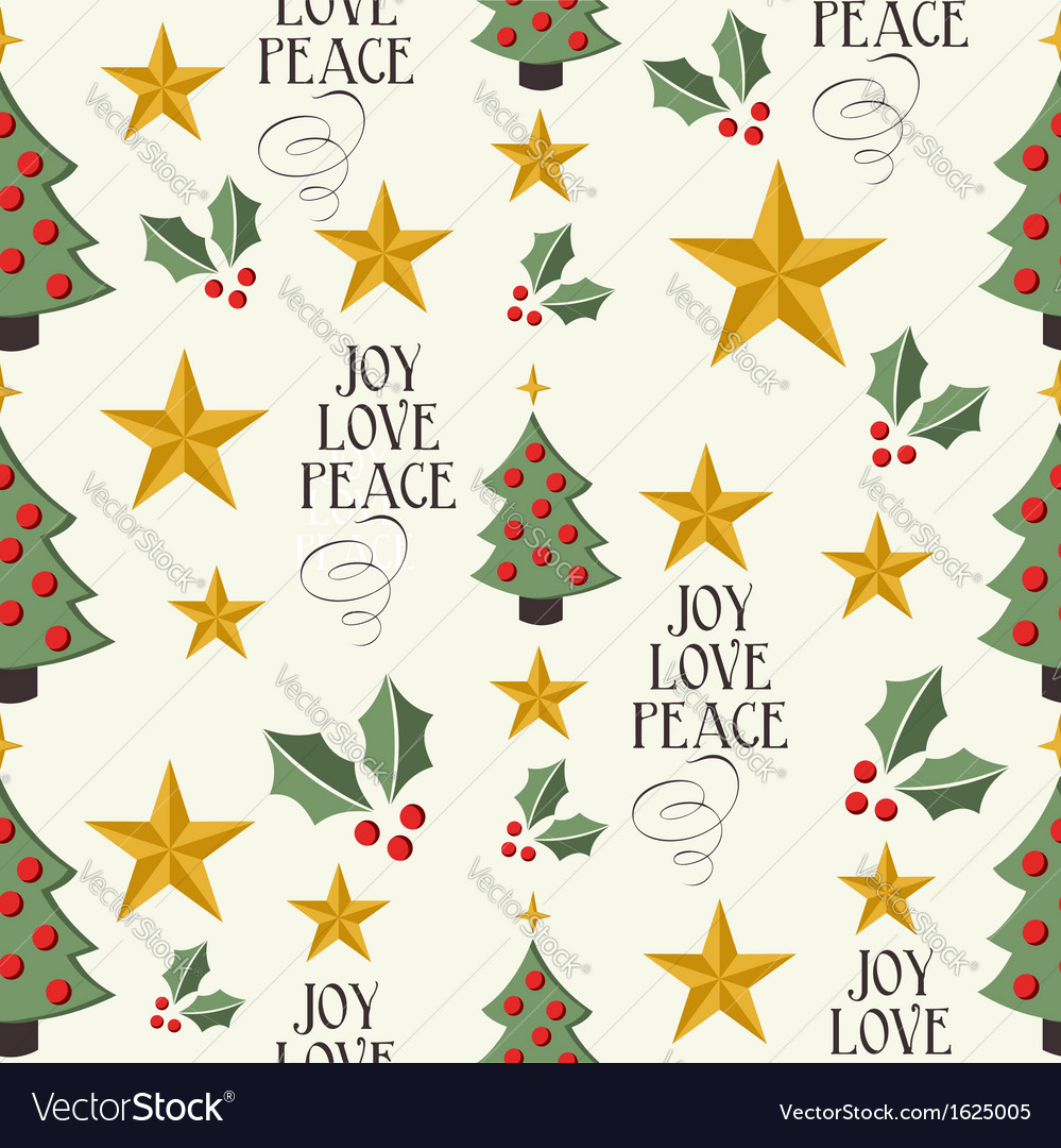 Merry christmas icons tree seamless pattern vector | Price: 1 Credit (USD $1)