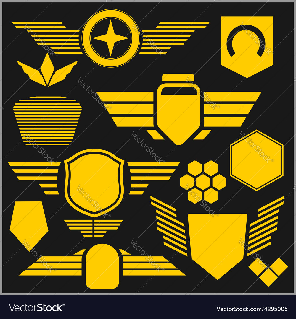 Military symbol icons  set vector