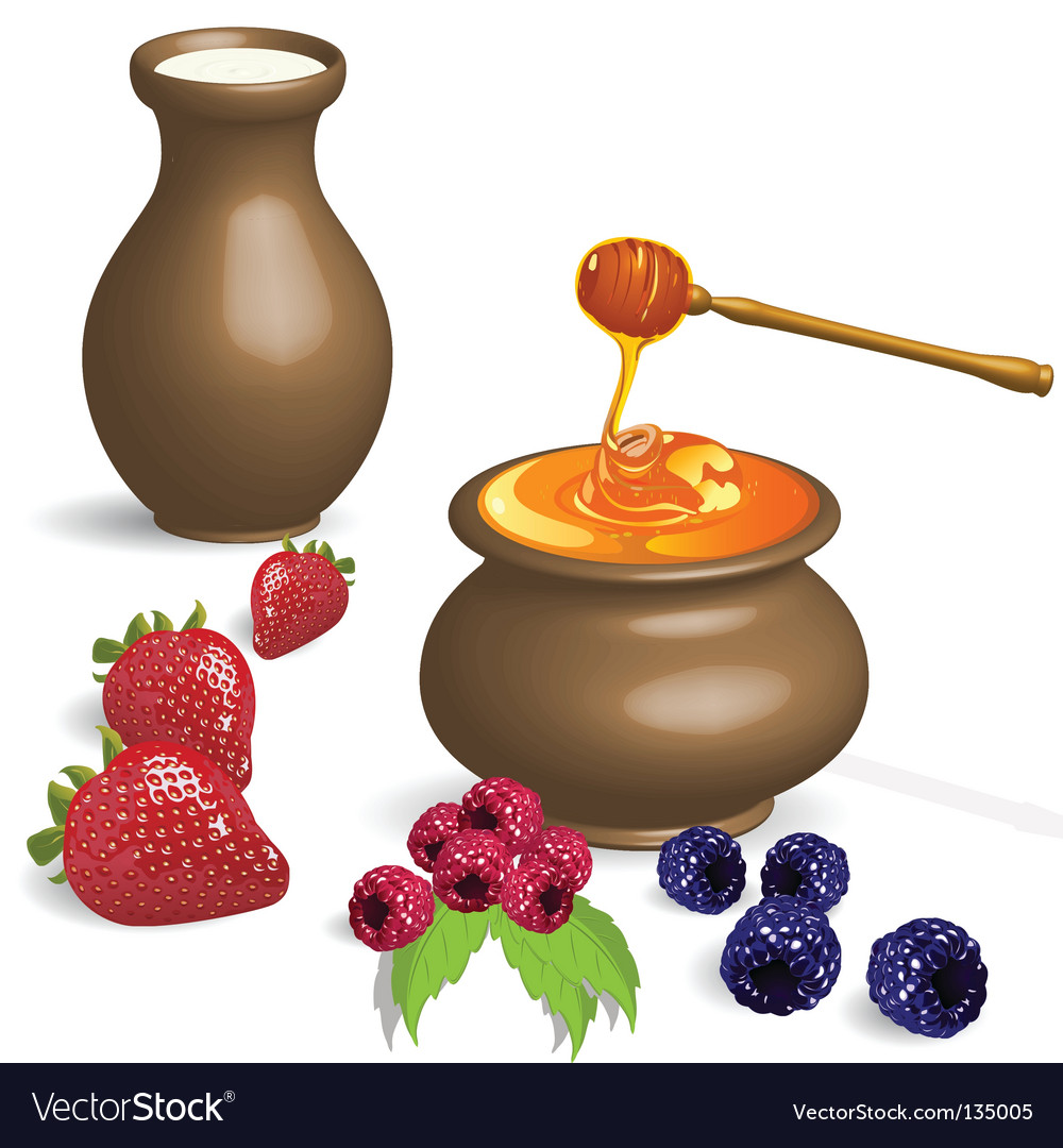 Milk and honey vector | Price: 3 Credit (USD $3)