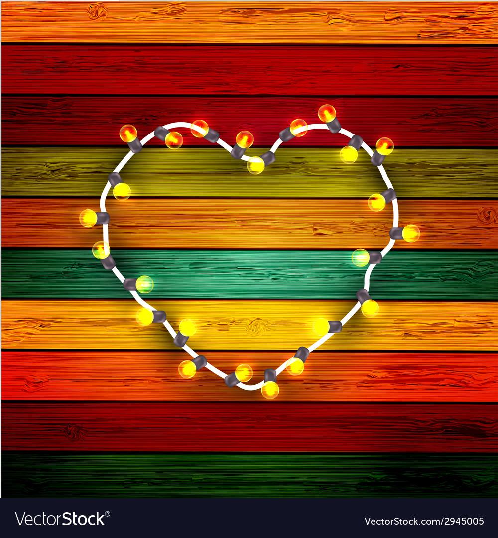 Modern garland heart vector | Price: 1 Credit (USD $1)