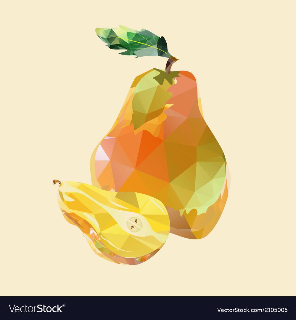 Pear polygonal vector | Price: 1 Credit (USD $1)