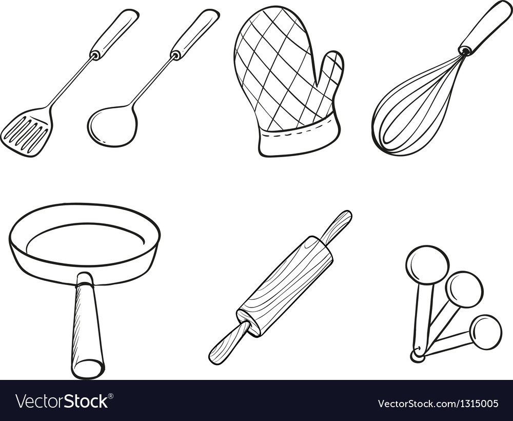 Silhouettes of kitchen utensils vector | Price: 1 Credit (USD $1)