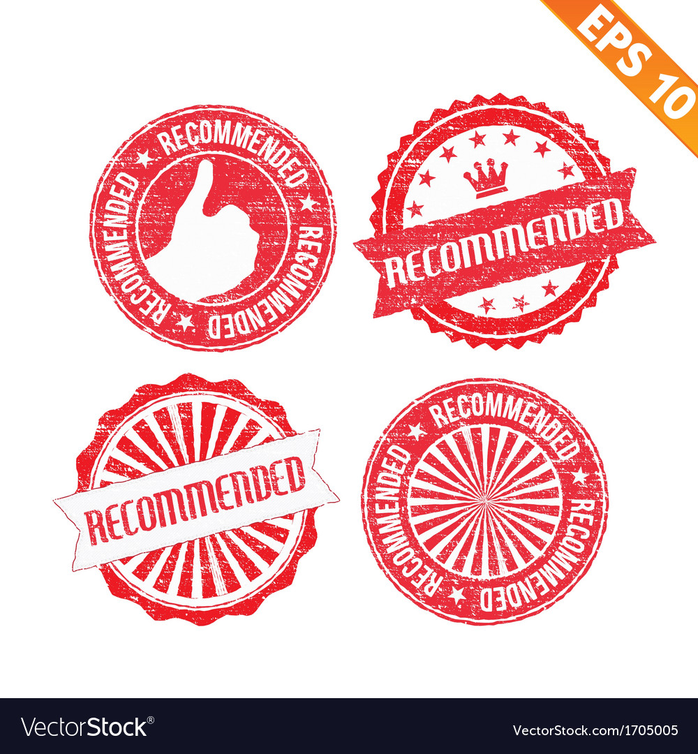 Stamp sticker recommended collection - - ep vector | Price: 1 Credit (USD $1)