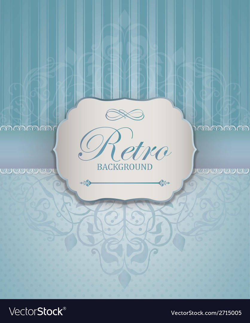Vintage frame with damask lace pattern vector | Price: 1 Credit (USD $1)