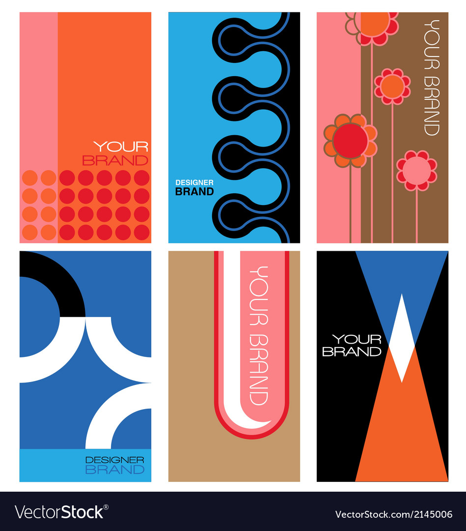 1960s inspired graphics set vector | Price: 1 Credit (USD $1)