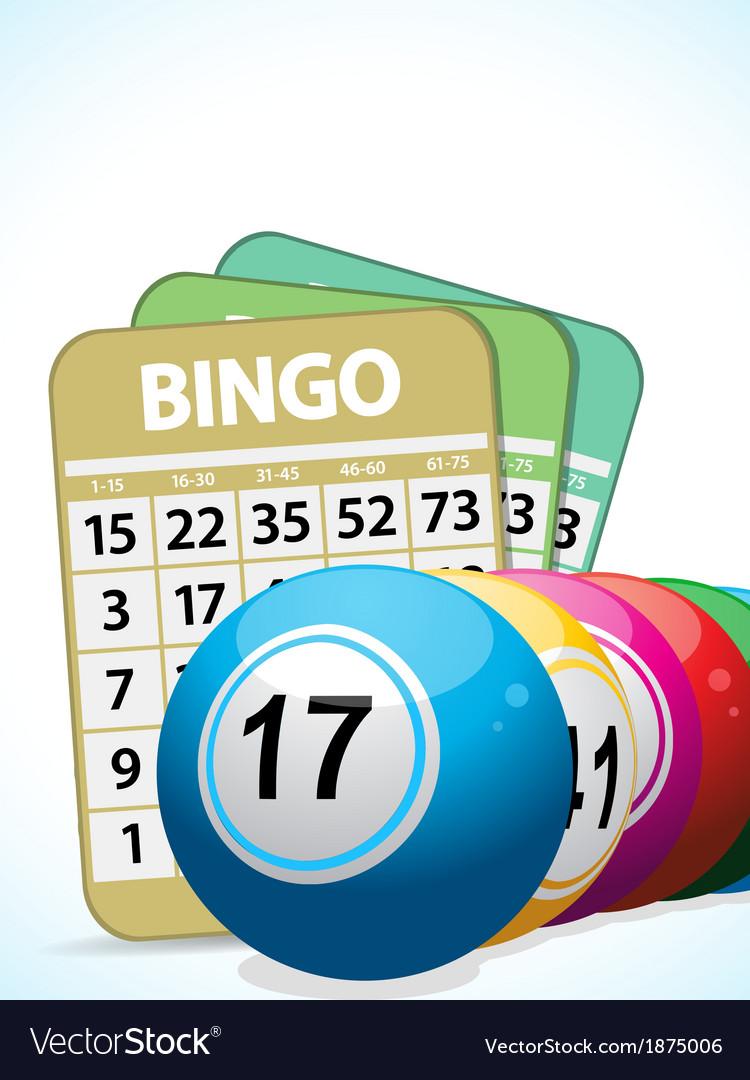Bingo balls and cards2 vector | Price: 1 Credit (USD $1)