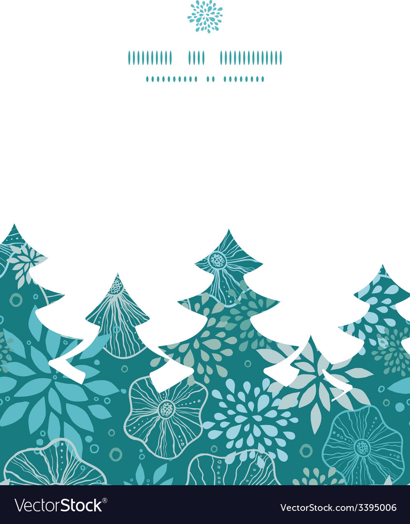 Blue and gray plants christmas tree silhouette vector | Price: 1 Credit (USD $1)