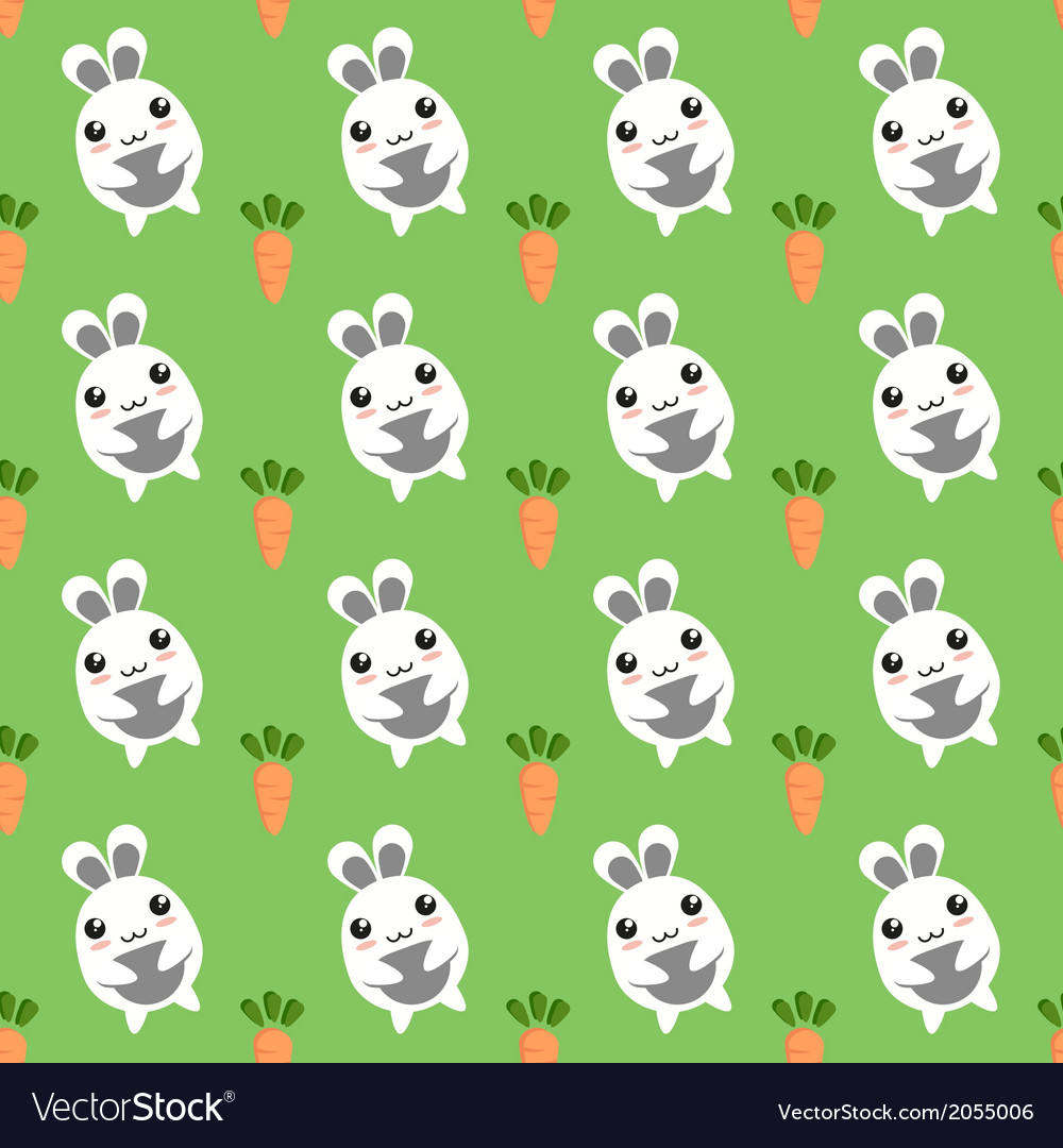 Bunny seamless background vector | Price: 1 Credit (USD $1)