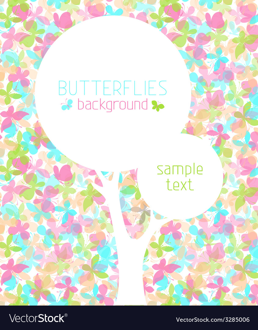 Colorful butterflies background vector   Price: 1 Credit (USD $1)