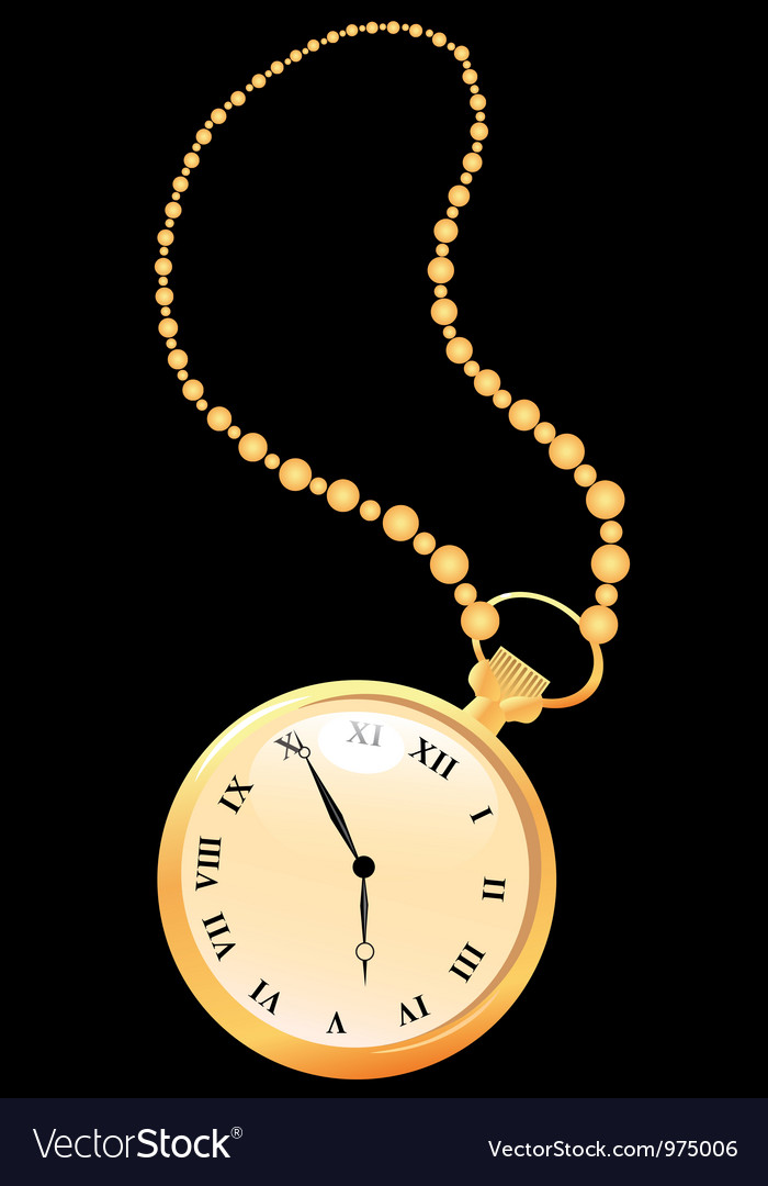 Golden pocket watches vector | Price: 1 Credit (USD $1)